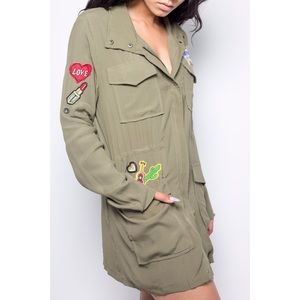 ARMY GREEN GIRLE JACKET